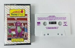 BARNEY & FRIENDS BARNEY IN CONCERT CASSETTE TAPE 1991 LYONS GROUP TIME LIFE