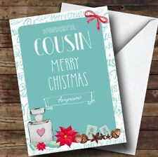 Cousin Perfume Personalised Christmas Card