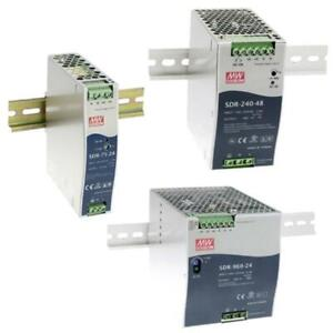 Din-Rail power supply MeanWell SDR-series ; panel mount switching power supplies