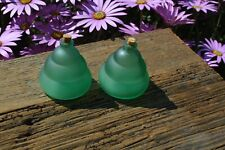 Parlane Green Frosted Glass Decorative Bottles