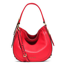 Michael Kors Bag 30S6GJQL2L MK Julia Medium Convertible Leather Shoulder Coral