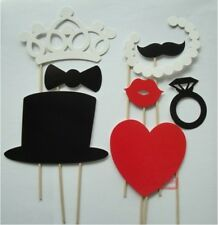 DIY 8Pcs Photo Booth Hats Prop Moustache Lip Bow Wedding Party Photography