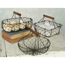 Set of Three Chicken Wire Baskets Vintage Farmhouse