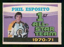 PHIL ESPOSITO ALL-STAR UER 1971-72 O-PEE-CHEE 71-72 NO 253 EX  32643