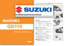 Suzuki GD110 AX4 Taller Servicio Manual del taller GD110HU 2010 en adelante GD 110