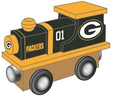 Green Bay Packers Wooden Toy Train [NEW] NFL Wood Christmas Kids Boys Gift Set