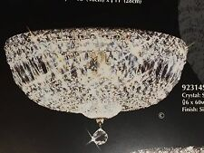 "Flush Mount 6-Light14"" Deluxe Imperial Crystal Lighting Fixture Ceiling SILVER"