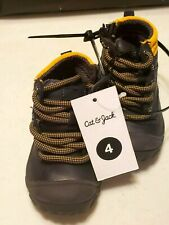 BABY BOY  SIZE 4 CAT & JACK LACE UP BOOTS MSRP $24.99