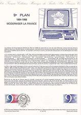 Document Philatélique Timbre 1er Jour : 08/12/ 1984 - Plan Moderniser la France