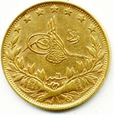 1327/6 SULTAN RESAD 100 KURUS OTTOMAN TURKISH GOLD COIN  EF-UNC