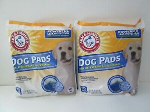(2) Arm & Hammer Dog Pads 10 ct. w/ Attractant for Training - Thinsorb Gel Core