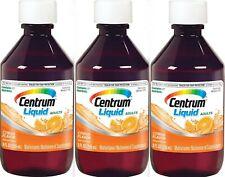 Centrum Liquid Multivitamin - Multimineral Citrus 8oz ( 3 pack ) PHARMACY FRESH!
