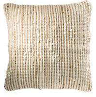 ❤️ Striped Recycled Cotton Jute Cushion Cover NATURAL 45cm x 45cm Plain Back Zip