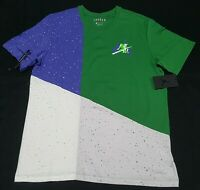 Nike Air Jordan Men's Mashup T-Shirt Jumpman Classics green Cement CU4560-353