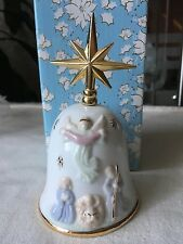 The first Noel - Porcelain bell with 12k gold plated accents