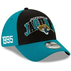 Jacksonville Jaguar Hat New Era 39Thirty Football Flex-Fit Cap M/L/XL Teal Black