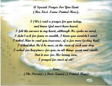 A Special Prayer For You Personalized Poem Gift For Aunt~Footprints #1