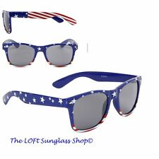 Mens and Womens Red White and Blue Usa Stars and Stripes sunglasses W-465-flag