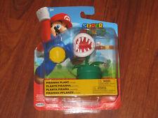 "NEW! Super Mario Piranha Plant with Coin - 4"" Figure by Jakks World of Nintendo"