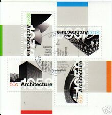 AUSTRALIA 2007 ARCHITECTURE MINIATURE SHEET FINEUSED
