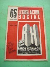 REVISTA - MAGAZINE BOLETIN DE LEGISLACION SOCIAL Nº 65