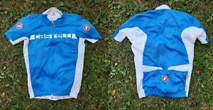 Castelli Cycling Shirt Blue Cycle Italy Camiseta Italia Original Camiseta