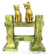 "Weller, 7 1/8"", MUSKOTA, ""Cats on the Fence"", impressed mark ""WELLER"", figural"