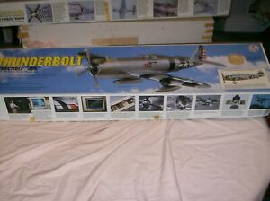 1995 TOP FLITE TF GOLD EDITION P-47D THUNDERBOLT MODEL RC IN BOX  EXCELENT