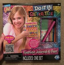 Make It Girl! Do It In Glitter Tape Fashion Journal & Pen