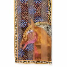 Laurel Burch Neck SCARF Wrap Silk Red Mares Horses New 2017