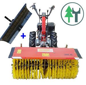 Einachser KM5 13 PS Einachsschlepper mit Kehrmaschine Schneeräumschild