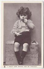 * RAPHAEL TUCK - Happy Childhood Glosso #5635 - Little Boy - c1910s era postcard