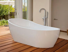 Woodbridge 67''  Freestanding Bathtub B-0001 with Brushed Nickel overflow& drain