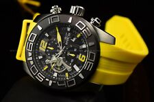 Invicta Men's 50mm Pro Diver Black Dial Lemon Yellow Silicone Chronograph Watch