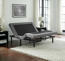 King Size Electric Bed Frame Adjustable Base Remote Power Zero Gravity Massage