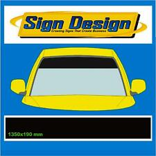 SPECIAL OFFER PLAIN GLOSS BLACK SUN STRIP CAR  DECALS GRAPHICS 001