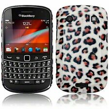For Blackberry Bold 9900 / 9930 Leopard PU Leather Hard Back Case Cover