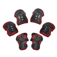 Knee Elbow Wrist Protective Guard Pad Kid Child Skating Bike Gear 6 pieces set