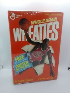 Michael Jordan UNOPENED SEALED Wheaties Box w/ POSTER