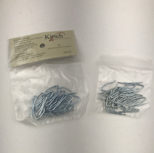 Kirsch Curtain Pin-on Hooks - 2 Sizes - 36 Pieces - New Open Package