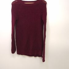 New American Eagle AEO Womens Maroon Red Knit Crewneck Jegging Sweater Size XS