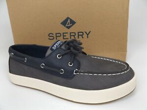 Sperry Kids SC-Cruise Boat Shoes Youth SZ 6.0 M, Navy Gray Leather, NEW,   1578