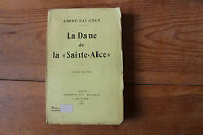 "André SAVIGNON - La Dame de la ""Sainte-Alice"" - ed. Calmann-Levy 1926"