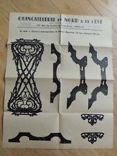 Ancien Plan de découpe création bois - Table à ouvrages Quincaillerie du Nord