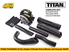 TITAN TTL684BVC Petrol Blower and Vacuum 27.6cc Engine 2-Stroke