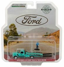 1:64 GreenLight *HOBBY EXCLUSIVE* Blue 1970 Ford F-350 RAMP FLATBED TRUCK *NIP*