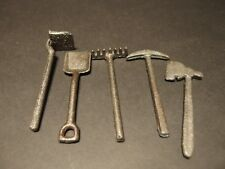 "4"" Antique Vintage Style Cast Iron Set of Miniature Garden Tools"
