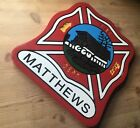 Fire Department Matthews Old  Style 3D routed wood plaque wood patch sign