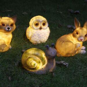 Solar Power LED Cute Animal Light Outdoor Garden Path Yard Landscape Decor Lamp