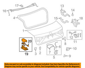 81250-33030 Toyota Lamp assy, luggage compartment, no.1 8125033030, New Genuine